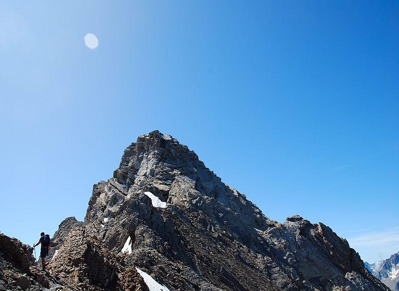 Klettersteig Piz Mitgel : Piz mitgel